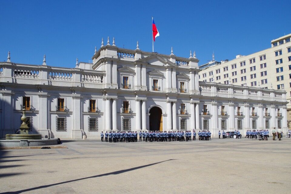 Palast La Moneda in Santiago de Chile