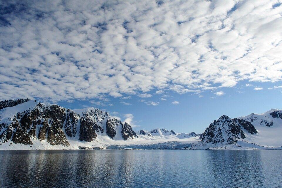 Panoramafahrt im Abendlicht: Berge, Gletscher, Wasser und Himmel im Raudfjord