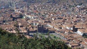 Blick von Sacsayhuaman auf Cusco