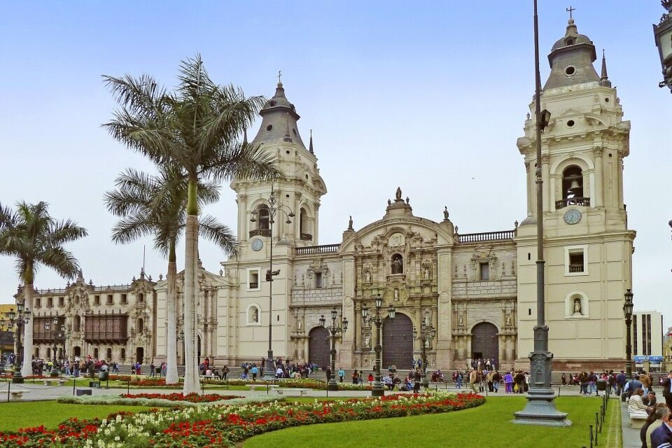 Kathedrale in Lima am Plaza Mayor