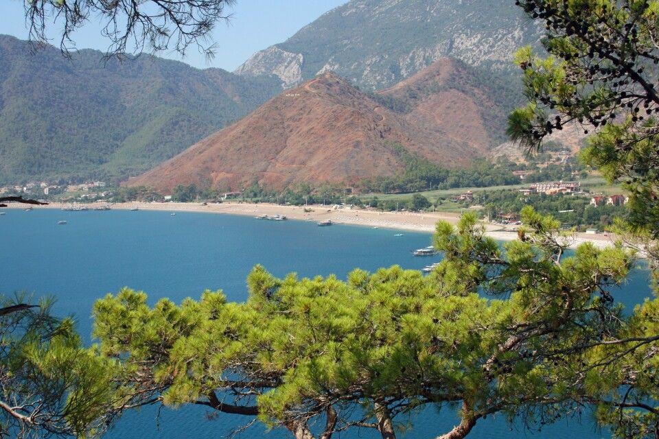 Blick auf den Strand von Adrasan in Lykien