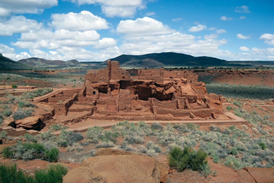 Wupatki National Monument, Ruine eines Pueblo der Anasazi-Kultur