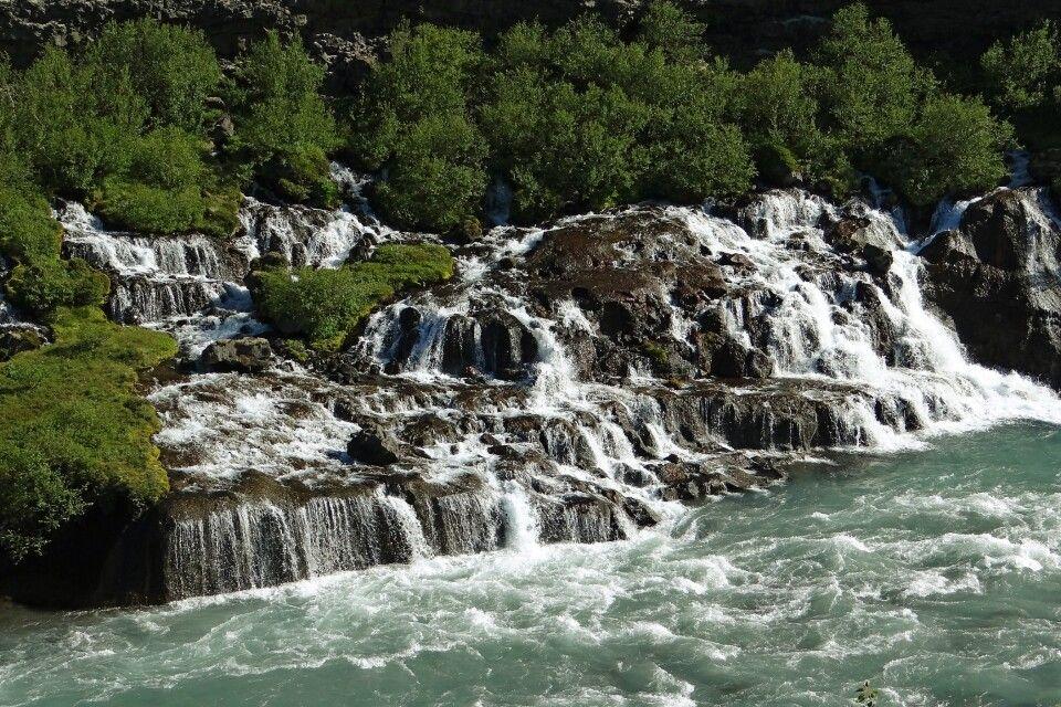 Wasserfall Hraunfossar