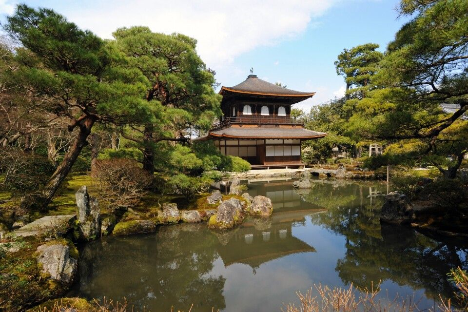 Silberner Pavillon in Kyoto