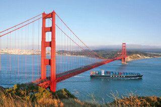 Blick auf die Golden Gate Bridge, San Francisco