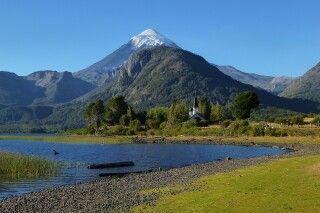 Malerische Landschaft um den Vulkan Lanin