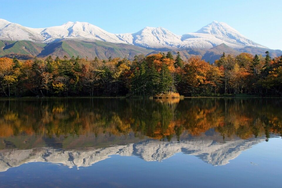 Wunderschöne Naturlandschaft auf Hokkaido