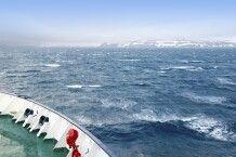 Raue See an der Antarktischen Halbinsel