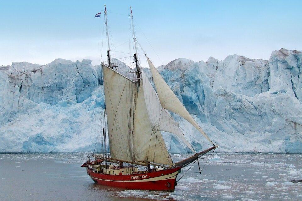 Noorderlicht vor Gletscherkante