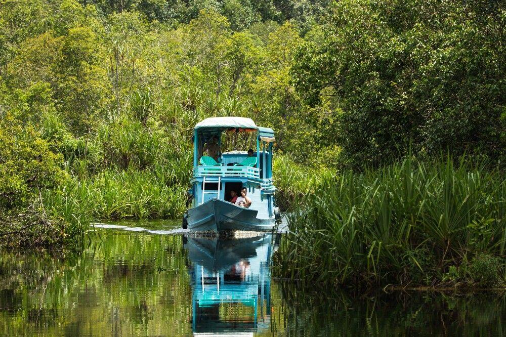 Klotok auf dem Weg in den Tanjung Puting NP