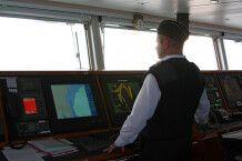 Kapitän bei der Arbeit
