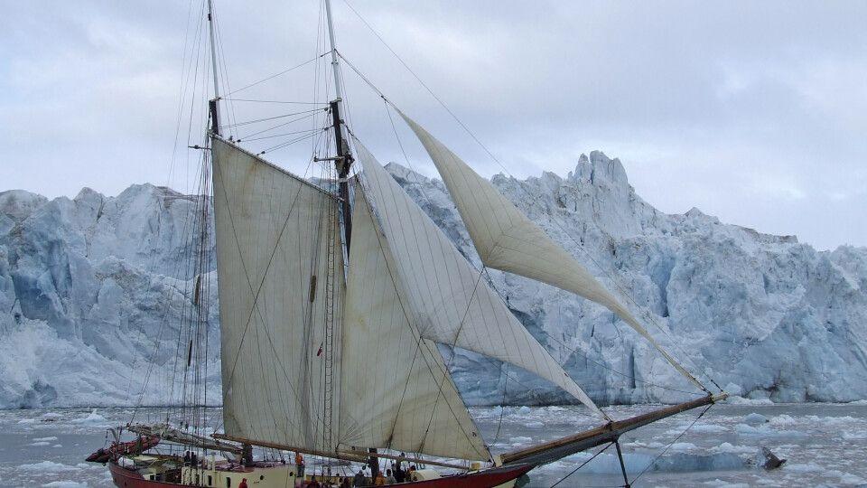 Noorderlicht vorm Gletscher