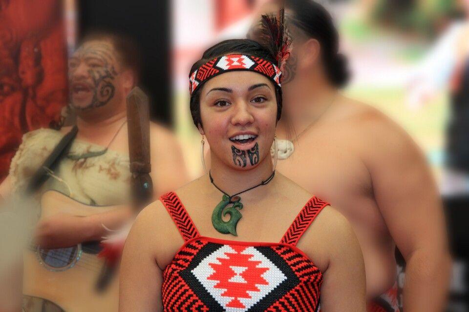 Maori-Frau