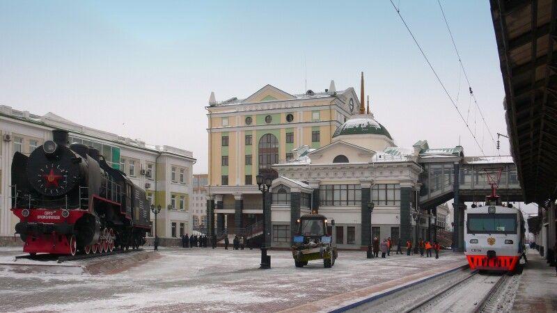 Transsib im Bahnhof © Diamir