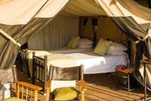 Ngorongoro Crater Camp Zelt innen