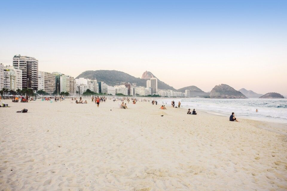 Copacabana-Strand in Rio de Janeiro