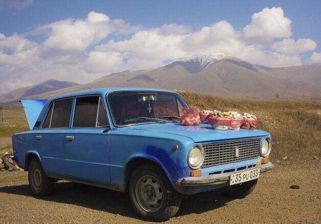 Pilzverkauf im Armenischen Hochland