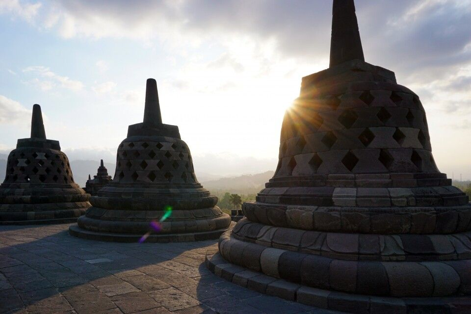 Stupas auf Borobudur