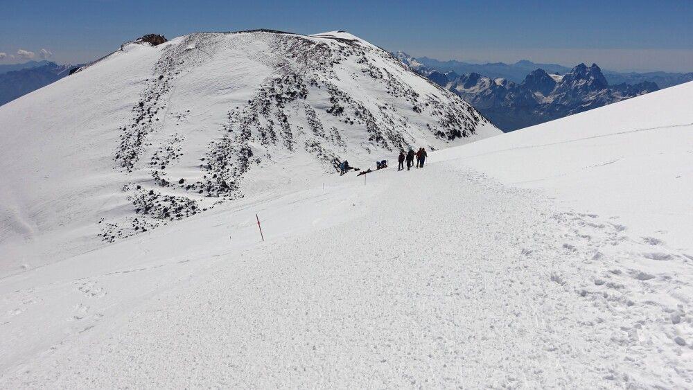 Aufstieg über Südost Hänge zum Gipfel
