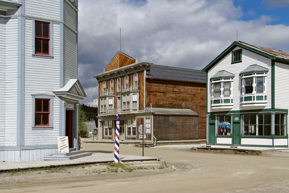 Mitten in der Goldgräberstadt Dawson City