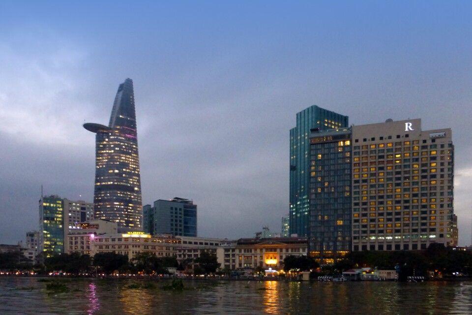 Blick auf die Skyline von Saigon
