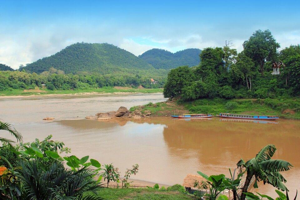 An der Spitze der Halbinsel von Luang Prabang