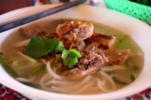Aromatische Nudelsuppe - sehr typisch für Asien