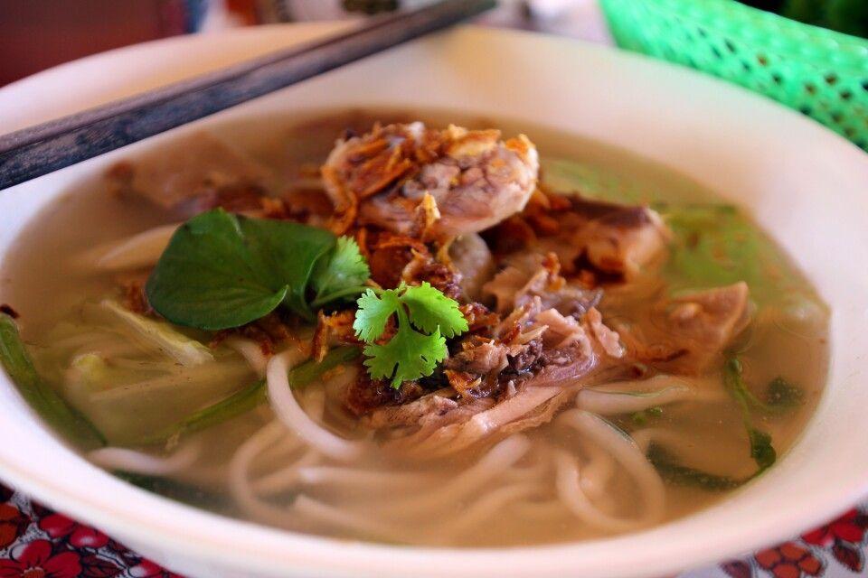 Aromatische Nudelsuppe – sehr typisch für Asien
