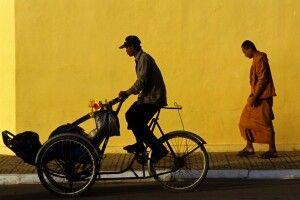 Stillleben in den Straßen von Phnom Penh