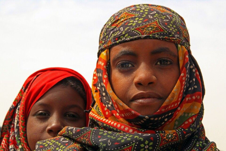 Kinder in der Danakil Wüste