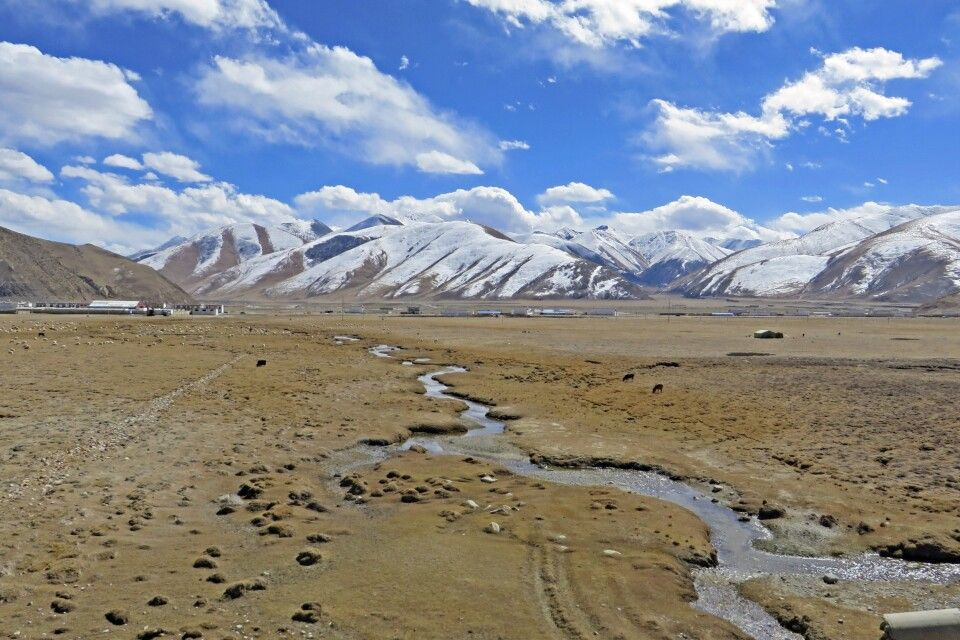 mit dem Himmelszug durch die tibetische Hochebene
