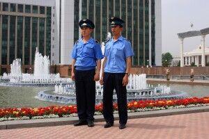…auf dem Unabhängigkeitsplatz in Taschkent.