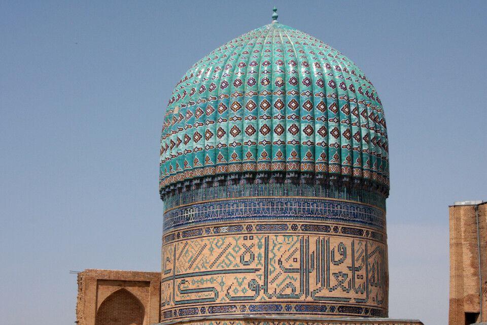 Die Kuppel des Bibi-Khanum-Mausoleum