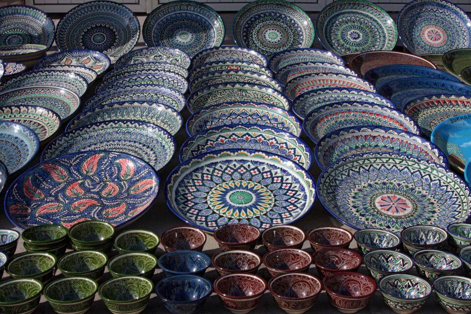 Typische Keramik aus dem Ferganatal