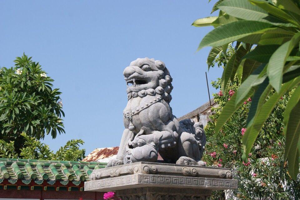 Detail im Innenhof der Fujian-Versammlungshalle