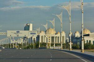 Autobahn in Ashgabat