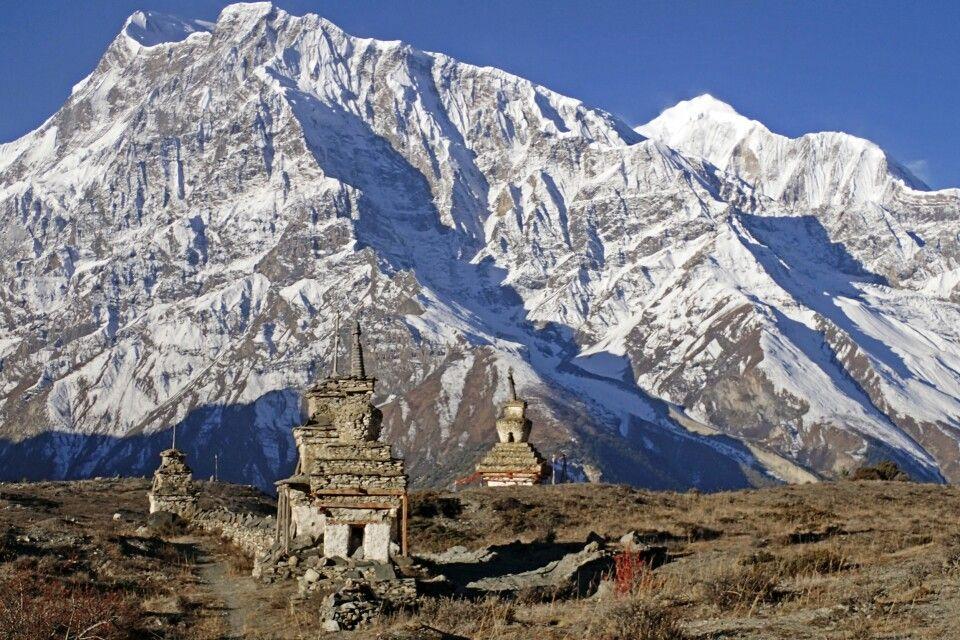 Blick zum Annapurna II und Gangapurna
