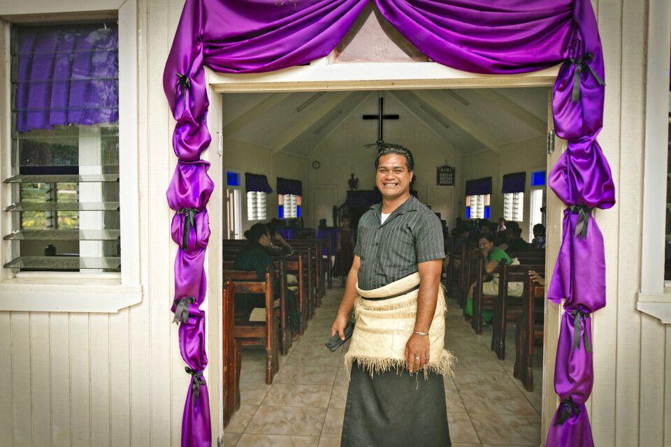 Kircheneingang auf Tonga