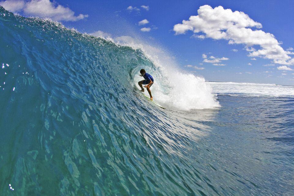 Surfer vor Tonga