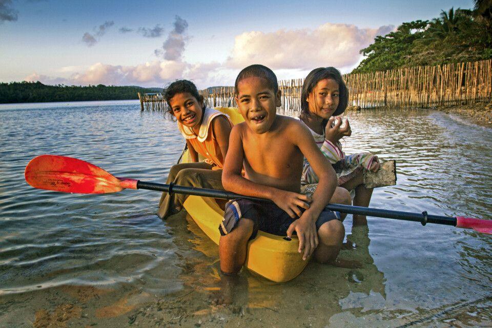 Kinder auf Tonga