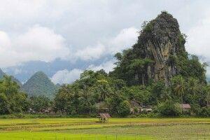 Karstberge bei Vang Vieng