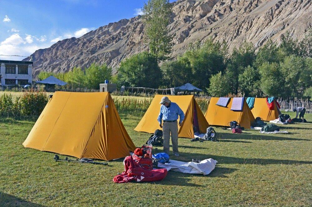 Camp vor Markha (3700m), südlich vom Fluss, auf großer Wiese