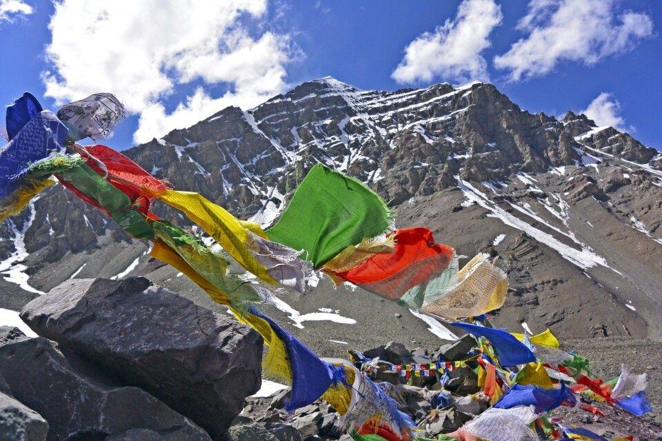 Stok Kangri, Blick vom Gletscher(5300m) in die Ostwand