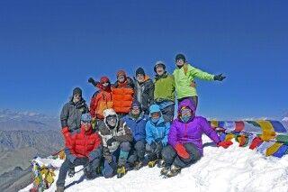 Stok Kangri, Gipfelbild mit EXPSTM-290815
