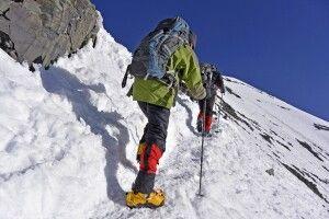 Stok Kangri (6121m), am Gipfelgrat (ca 6100m) im September