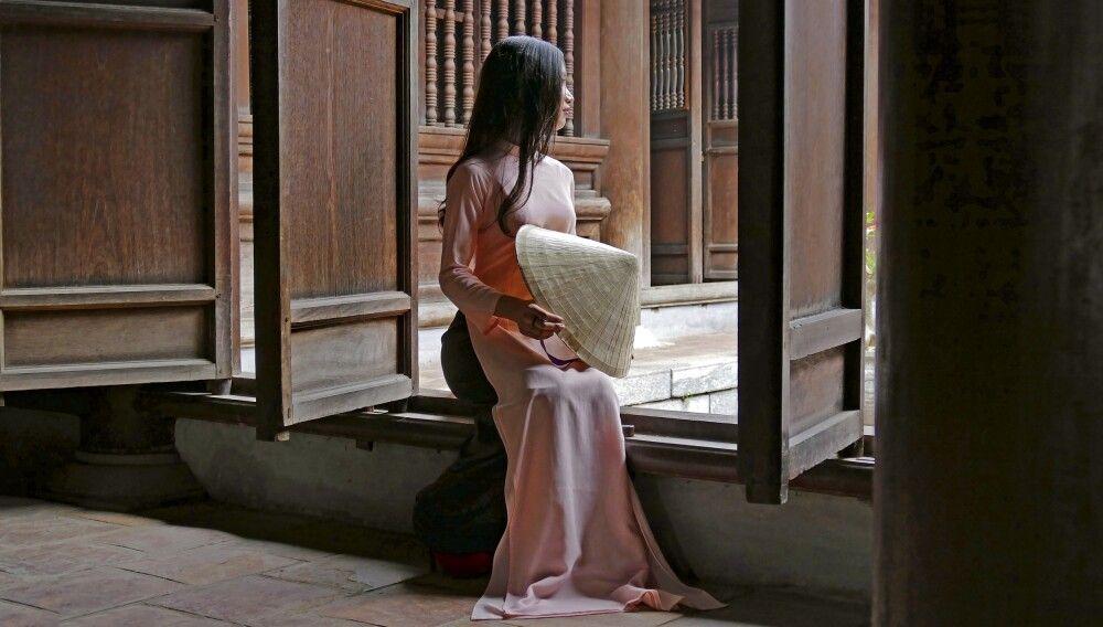 Stillleben in einem Tempel in Vietnam