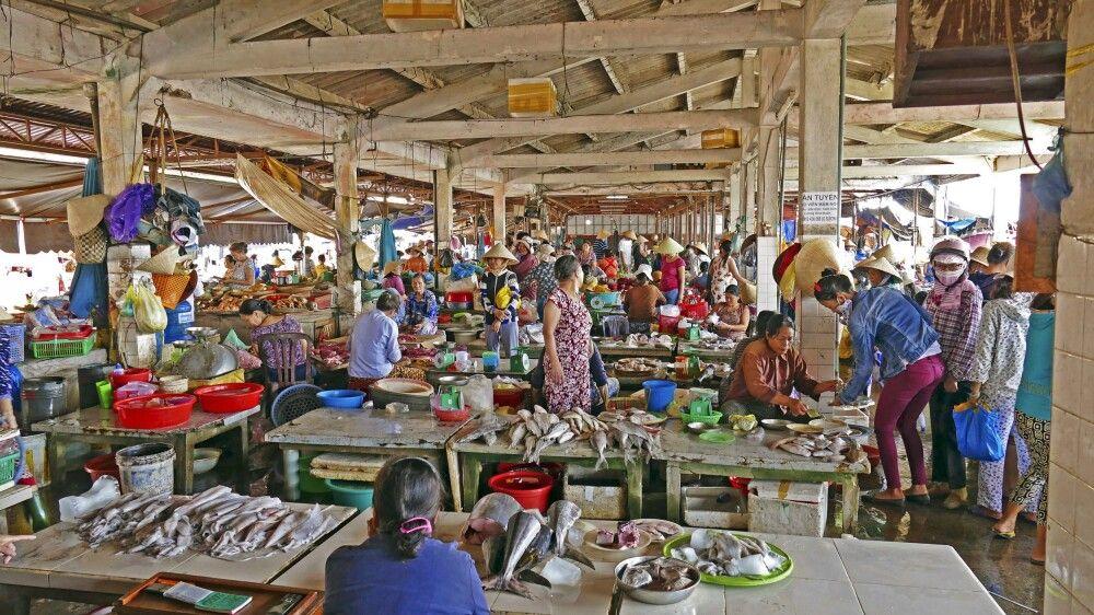 Markthalle in Vietnam