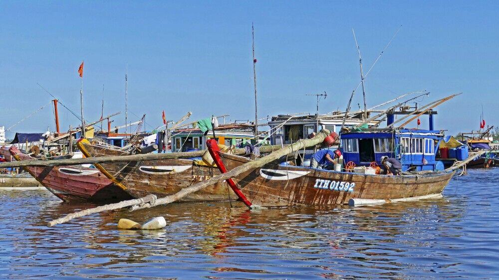 Boote bei Da Nang