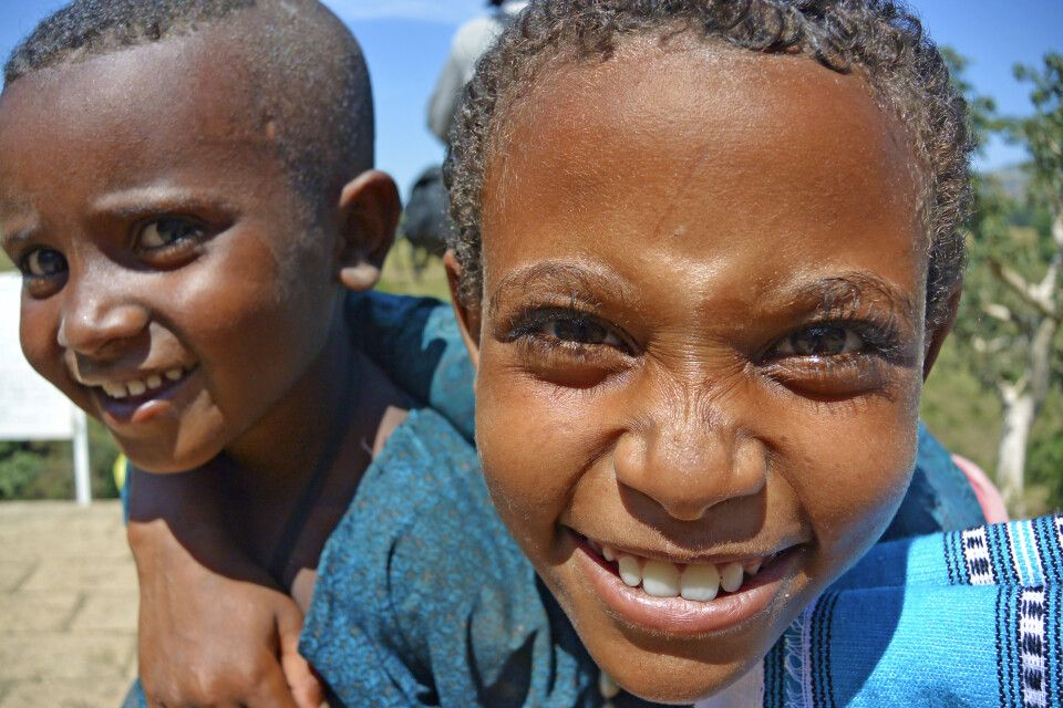 Kinder in der Amhara Region