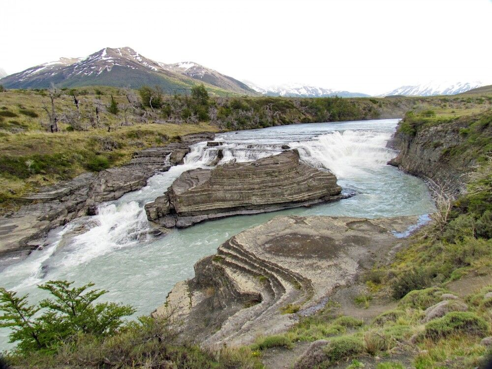 Cascada Rio Paine im Torres del Paine NP